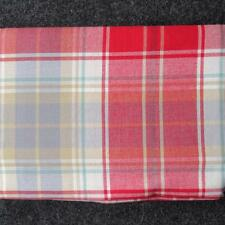 PLAID FABRIC TABLECLOTH~Valentines/Christmas/Winter~Red/White/Blue ALL SIZES~NEW