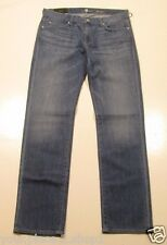 "7 for all Mankind Slim Straight Leg Medium Wash ""Slimmy"" Jeans Size 33"