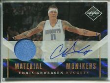 2010-11 PANINI LIMITED CHRIS ANDERSEN MONIKERS AUTO JERSEY 21/49