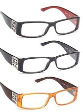 2 Pairs Clear Lens Non Optical Womens Glasses Design on Temple Designer Style