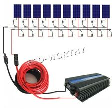 100W 1KW 110V Solar System Grid Tie / Off Grid: Solar Panel Inverter Home Power