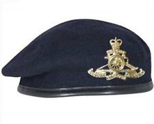 High Quality Royal Artillery Navy Blue Beret + Official Cap Badge ( All Sizes