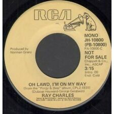 "RAY CHARLES Oh Lawd I'm On My Way 7"" VINYL US Rca 1976 Mono B/W Stereo Promo"