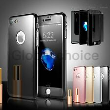 Shockproof Ultra Thin 360 Full Body Hybrid Temper Glass Case For iPhone 7 6 Plus