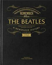 Personalised Beatles Newspaper Cuttings Book - Black Leather Cover
