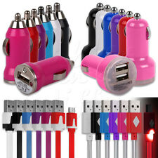 CAR CHARGER ADAPTOR + MATCHING MICRO USB DATA CABLE FOR HTC MOBILE PHONES