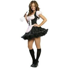 French Maid Naughty Fetish Role Play Costume Halloween Fancy Dress