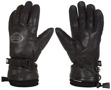 $300 Mens Rossignol All Leather Winters Fire Electric Battery Heated Ski Gloves