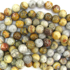 """Natural Crazy Lace Agate Round Beads Gemstone 16"""" Strand 4mm 6mm 8mm 10mm 12mm"""