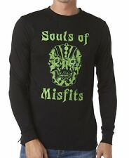 Men's RVCA Souls of Misfits Black Long Sleeved Tee, Size L. NWT, RRP $69.99.