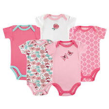 Luvable Friends Girls 5 Pack Assorted Pattern Bodysuits