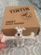 World Market The Adventures of TINTIN Glass Snowy Holiday Ornament in Box NEW