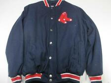 Boston Red Sox Mens Medium and 3X-Large Full Zip and Snap Wool Jacket BRX 18
