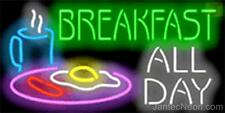 BREAKFAST ALL DAY Genuine Neon Sign JANTEC USA  Fast Free Shipping Restaurant