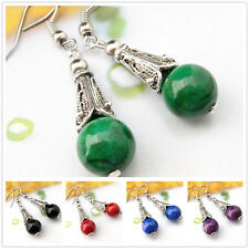 Buy 2 Get 1 Free Tibetan Silver Gemstone Turquoise Coral Handmade Earrings EH507