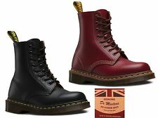 Dr Martens 1460 Made In England Black Oxblood Red Leather 8 Up Doc Boots