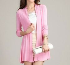 9Colors Choice Women Long Sleeve Knitted Sweater Cardigan Shawl Outerwear T14