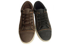 Mens Shoes Borelli Brad Denim or Brown Lace Up Skate Casual Shoe Size 7-12 New