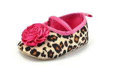 Kids Baby Girls Leopard Shoes Peony Flower Infant Toddler Crib Shoes