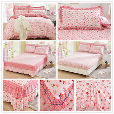 Pink Double Queen King Bed Size Cotton Quilt Duvet Doona Cover Set Pillowcases