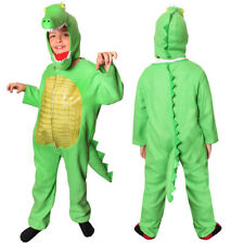 CHILDS CROCODILE ANIMAL FANCY DRESS COSTUME KIDS ALLIGATOR ONESIE BOOK CHARACTER