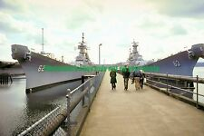 USS NEW JERSEY BB-62  USS MISSOURI BB-63  Color Photo Military USN Navy
