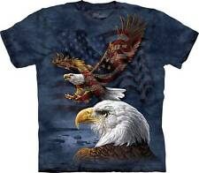 EAGLE FLAG COLLAGE ADULT T-SHIRT THE MOUNTAIN