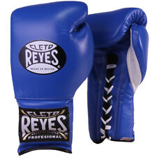 Cleto Reyes Traditional Lace Up Training Boxing Gloves - Blue