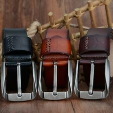 Vintage style pin buckle cow genuine leather belts for men high quality mens bel