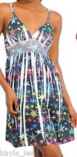 Multi Color Stars Sublimation Smocked Empire Cami Dress