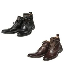 Levis Men's Leather Shoes, Emerson Lace Up Ankle boots - Black or Brown