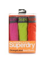 Superdry Three pack Boxer shorts Men ORANGE LABEL SPORTS TRUNK Echo Pink Cuba
