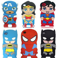 Hero Cartoon 3D Cute Silicon Soft Cover Case For ipod touch4 Iphone4 4S 5 5S 6