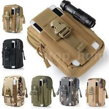 Tactical Molle Pouch Belt Waist Fanny Pack Bag Military Hiking Camp Phone Pocket