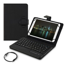 "SYNTHETIC LEATHER CASE FOR 7-8"" TABLET IN BLACK KEYBOARD BLUETOOTH QWERTZ"