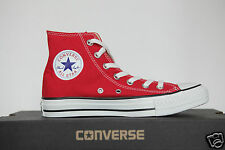 New All Star Converse Chucks Hi Trainers Shoes Ox Can Red M9621