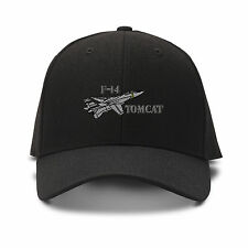 F-14 Tomcat Aircraft Name Embroidery Embroidered Adjustable Hat Cap