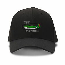 Tbf Avenger Aircraft Name Embroidery Embroidered Adjustable Hat Cap