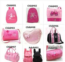 10 Styles Girls Women Child Latin Ballet Dance Bag Handbag Shoulder Backpack Zip