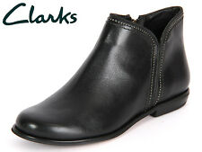Clarks Koba Bera Black Leather Ladies Ankle Boots size 3.5/36 D  RRP £80