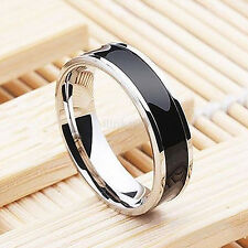 New Fashion 10g Stainless Steel Mens Jewelry Ring Band Titanium Free Shipping CA
