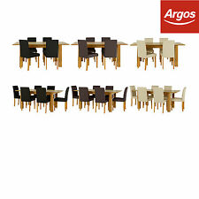 HOME Penley Oak Extendable Dining Table and Chairs - Colour & Chair Choice:Argos