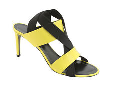 Balenciaga high heel strappy sandals in bright yellow leather