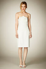 Coast Ivory Breita Strapless Folded Bridesmaid Wedding Mini Pencil Dress 6 - 18