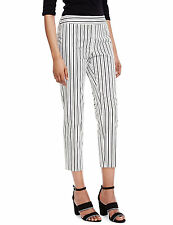 New M&S Collection Black & White Striped 7/8 Trousers Sz UK  14 Short