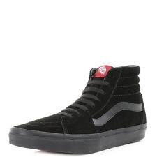 Mens Vans Sk8 Hi Black Black Suede Casual Leather High Top Trainers Size