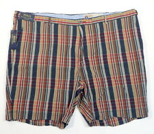 Polo Ralph Lauren Classic Fit India Madras Plaid Flat Front Shorts Mens NWT