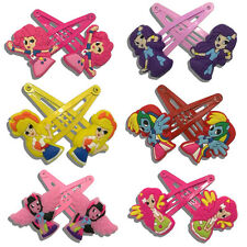 1-6pairs Equestria Girls My Little Pony Kids Hair Clips Hairpins Accessory Gift