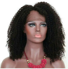 Brazilian Black Virgin Human Hair Wig Kinky Curly Lace Front Wig /Full Lace Wigs