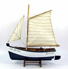 Personalised Father of the bride or groom nautical gift, model boat, 30cm